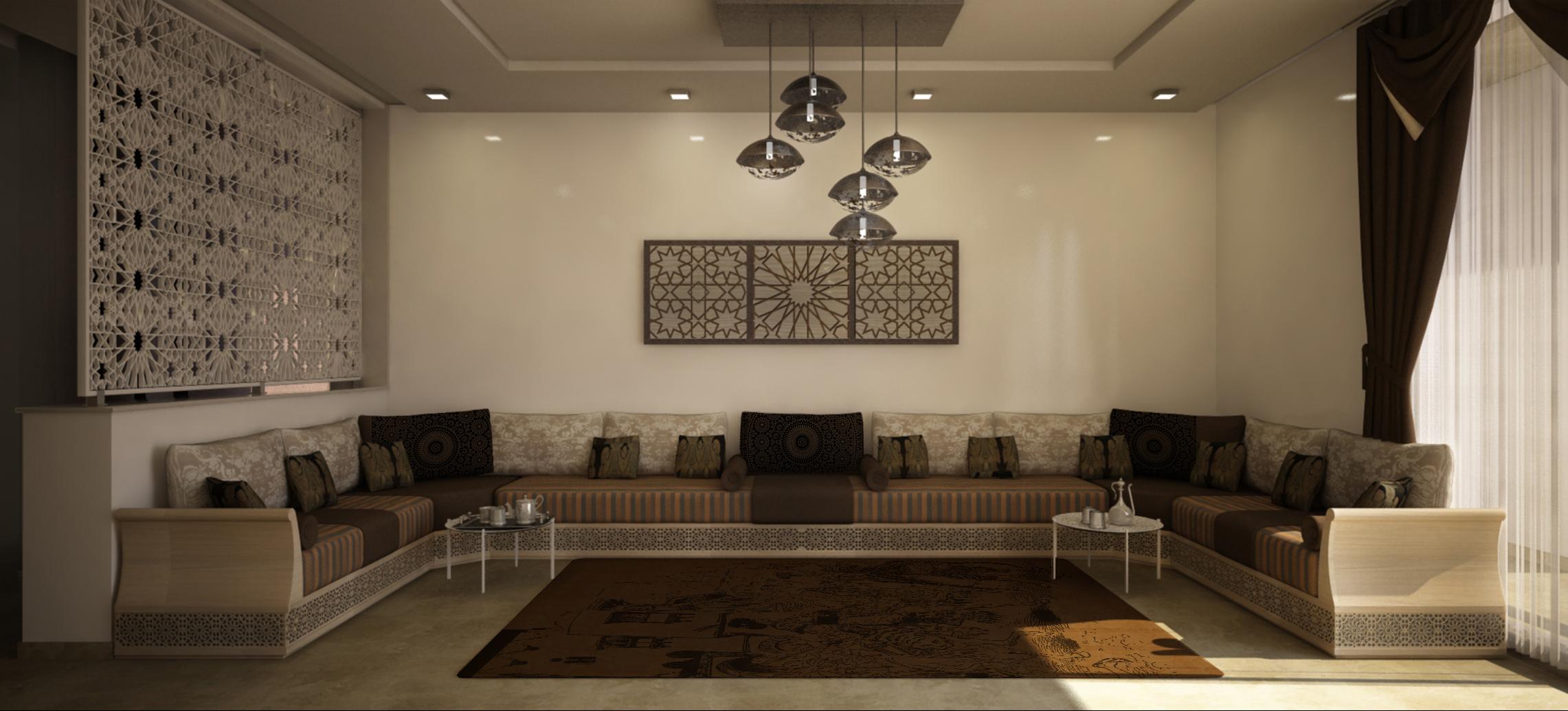 Aménagement et conception des Salons marocains | Perspective 3D ...